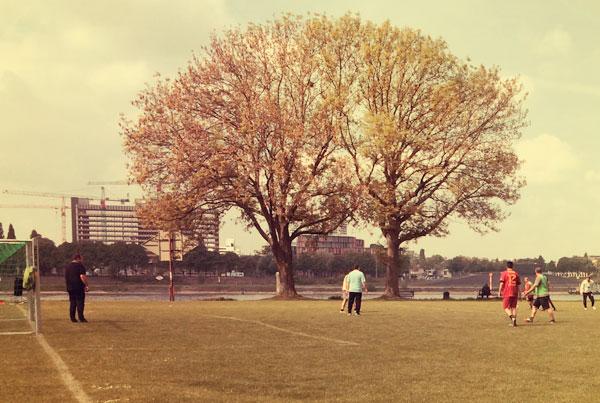 Fussball auf den Pollerwiesen