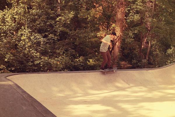Skateboarden am Lentpark
