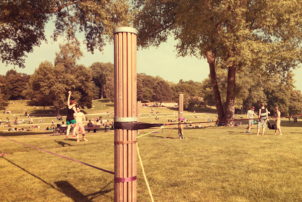 Slacklinepark am Aachener Weiher