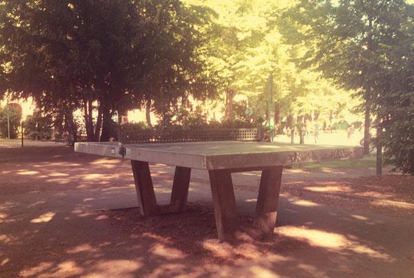 Tischtennis auf dem Rathenauplatz