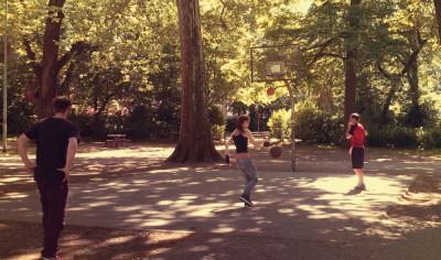 Basketball im Volksgarten