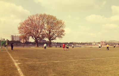 Fussball auf den Pollerwiesen Nord
