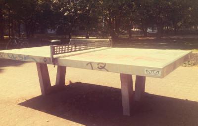 Tischtennisplatte am Colonius