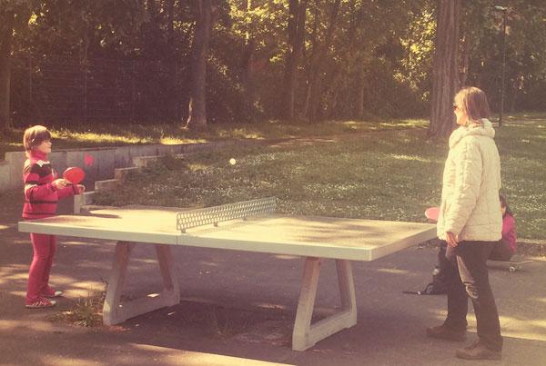 Tischtennis im Klingelpützpark