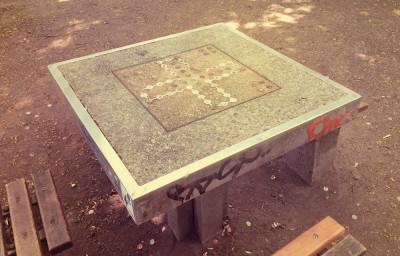 Tischtennisplatten im Volksgarten (Süd)